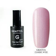 Grattol, Гель-лак 122, Pink Pearl, 9 мл