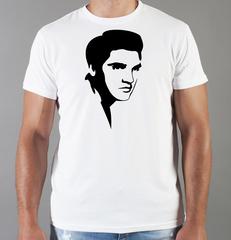 Футболка с принтом Элвис Пресли ( Elvis Presley) белая 0017