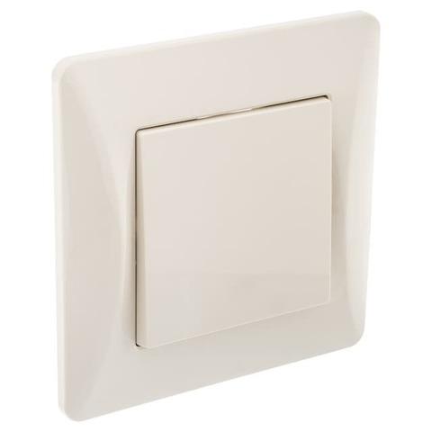 Выключатель/переключатель одноклавишный на 2 направления(проходной), 10 А 220/250 В~. Цвет Бежевый. Ugra GUSI Electric. С11В4-003