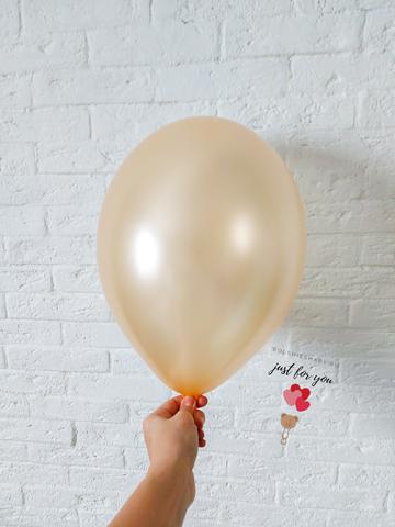 Воздушный шар персиковый металлик