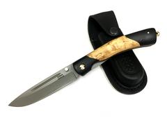 Складной нож Попутчик, Х12МФ, карельская береза