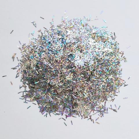 Блестки для слайма палочки серебро голография 30мл