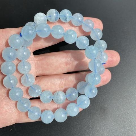 Бусины аквамарин А шар гладкий 9,5-9,8 мм 20 бусин цвет небесно-голубой