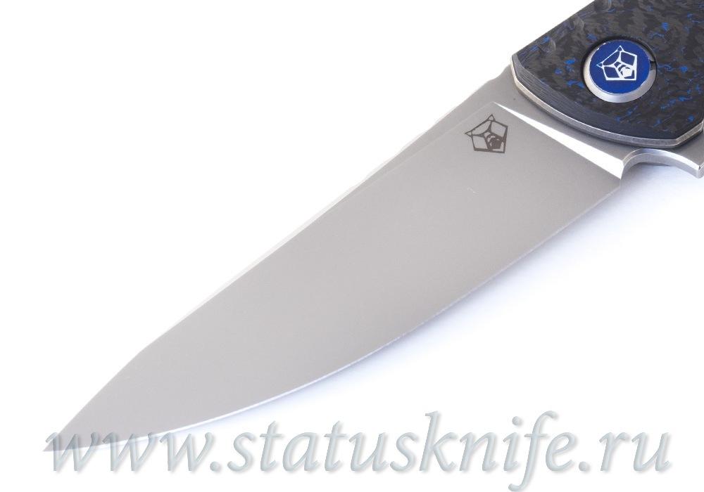 Нож Широгоров F3 NS M390 Ф3 Blue CF 3D подшипники - фотография