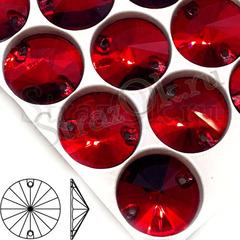 Купить стразы пришивные оптом темно-красные Garnet