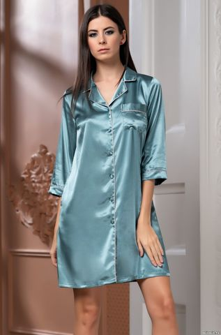 Рубашка на пуговицах MIA-Amore Julia Джулия 8737 изумруд