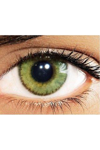 Зеленые линзы для темных глаз с Solotica Natural Colors Ambar