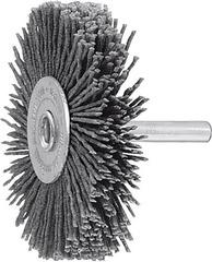 Дисковая щетка с хвостовиком микроабразивная, SiC, зерно 120