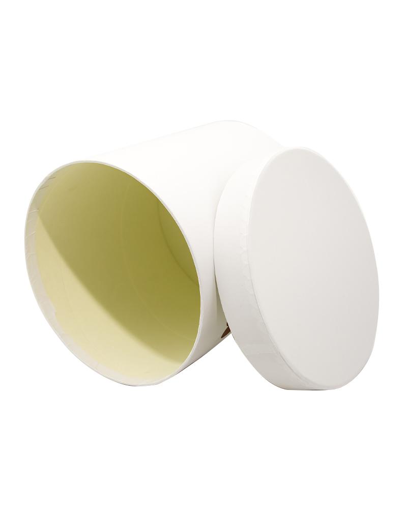 Коробка Цилиндр Белая (Средняя Мишки)