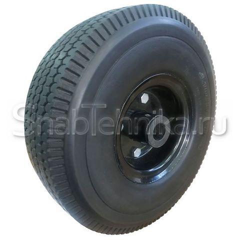 Колесо литое,  вспененный полиуретан 250 мм, со стальным  диском  PV1804, симметричное