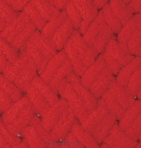 Пряжа Puffy Alize 56 Красный - толстая бархатистая пряжа для вязания руками. Купить в интернет-магазине недорого klubokshop.ru