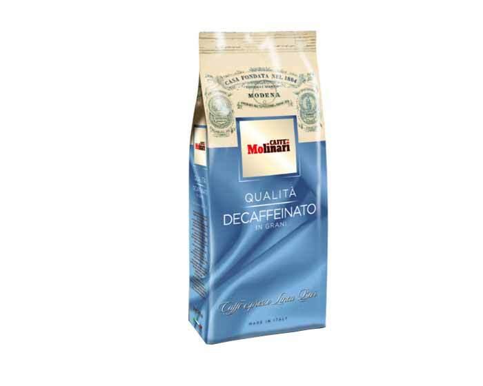 Кофе в зернах Molinari DECAFFEINATO, 500 г