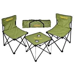 Набор складной мебели «Турист» (стол с подстаканниками 48х48х42 см; 2 стула 45x45x72 см), в чехле