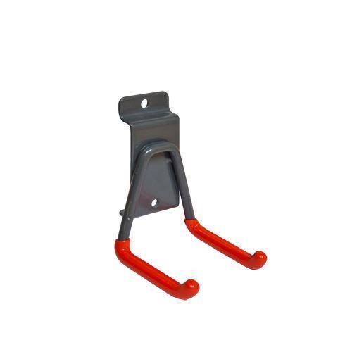 Двойной малый (60 мм) прорезиненный крюк для проводов GL03
