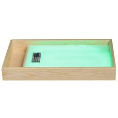 Стол для рисования песком с отсеком для песка и цветной подсветкой (зеленый)