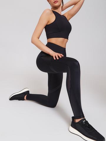 Тайтсы жен. для йоги черные