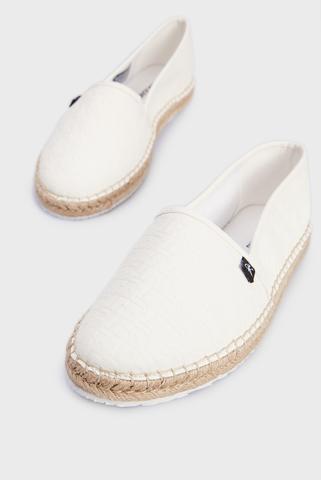 Женские белые эспадрильи ESPADRILLE EMBOSSED PU Calvin Klein
