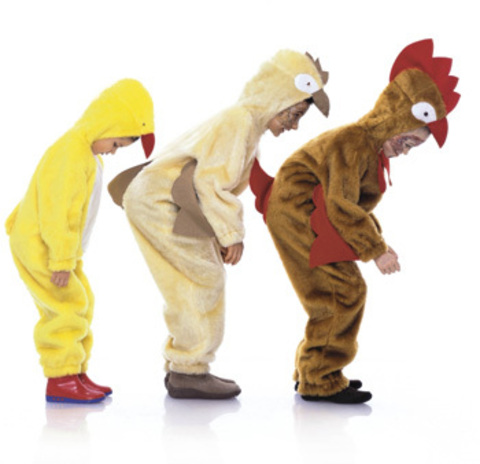 Выкройка Burda (Бурда) 2425 — Петух, курица, цыпленок