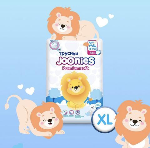 Трусики JOONIES Premium Soft, 12-17 кг (XL) Новые