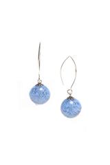 Серьги Perla Grazia светло-синие (Light Sapfir)