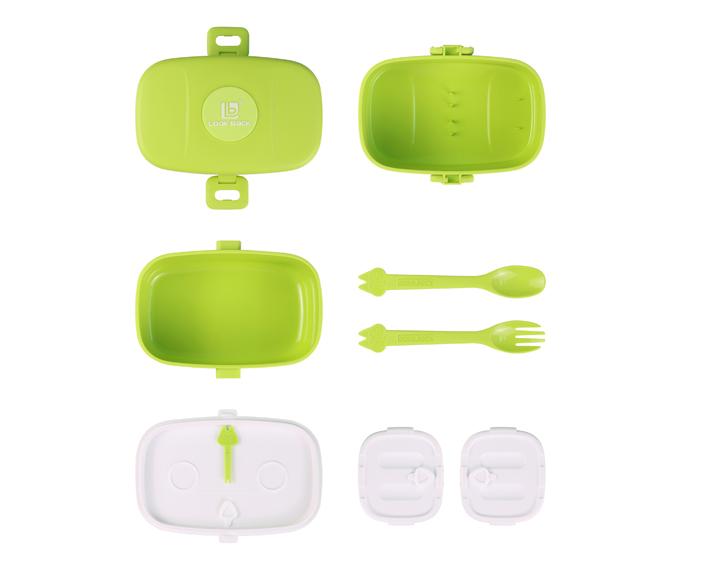Ланч-бокс Look Back Bento Box зеленый