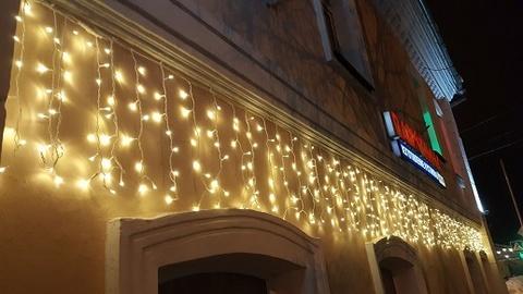 Бахрома светодиодная уличная 6*1м 400LED теплый белый с мерцанием