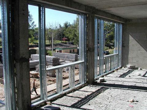 Монтаж легких ограждающих конструкций