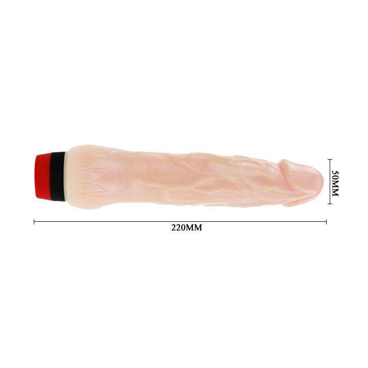 Вибратор с выступающей головкой Rockin Dong - 22 см.