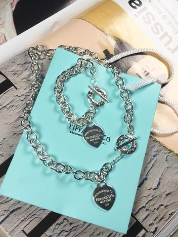 Комплект Tiffany Hearts посеребрение
