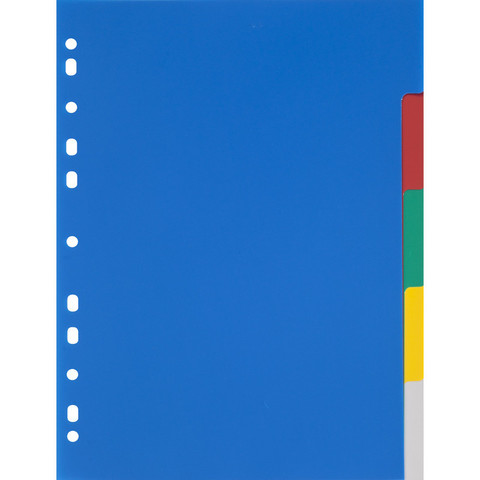 Разделитель листов Attache Economy А4 пластиковый 5 листов разноцветный (290х210 мм)
