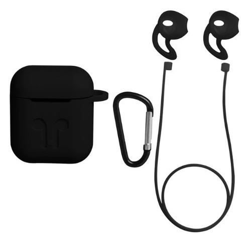 Защитный набор 4 в 1 для Apple Airpods (черный)