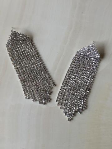 Серьги Априама, серебряный цвет