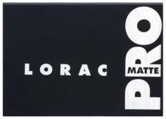 LORAC Pro Matte Eye Shadow Palette матовая палетка теней