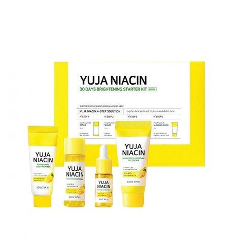 Some By Mi Набор миниатюр с юдзу для выравнивания тона Some By Mi Yuja Niacin 30 Days Brightening Starter Kit