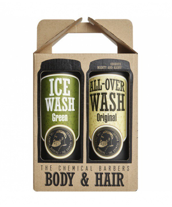 Набор CHEMICAL BARBERS All Over Wash & Ice Wash Green