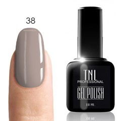 TNL, Гель-лак № 038 - маренго-клер (светло-серый)(10 мл)