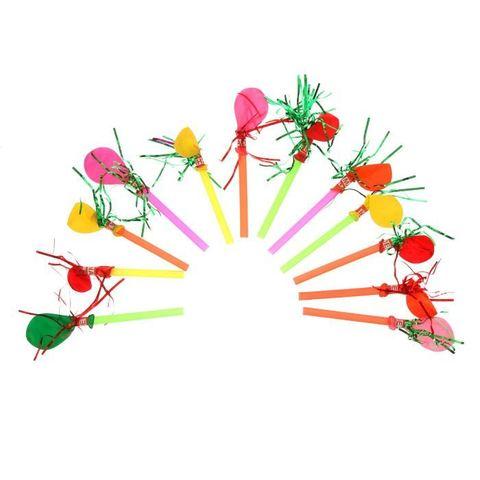 Дудка свисток с шариком и дождем (набор 12шт)