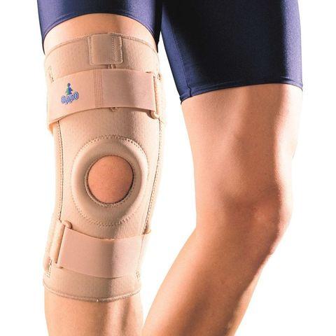 Ортез (бандаж) на коленный сустав с пружинными ребрами жесткости сильная фиксация OPPO 1030 (США)