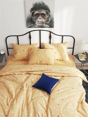 Простынь на резинке  -Yellow- натяжная 120х200х26 см 1,5-спальная