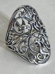 Птички (серебряное кольцо)