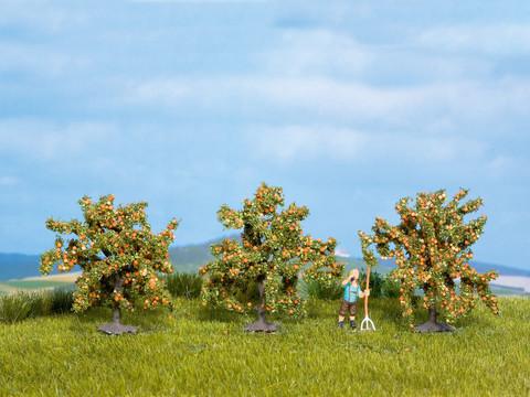 Апельсиновые деревья - 3шт, (4 см)