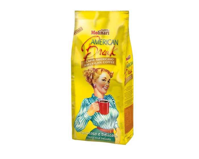 Кофе молотый Molinari AMERICAN BREAK CAFFE AMERICANO, 1 кг