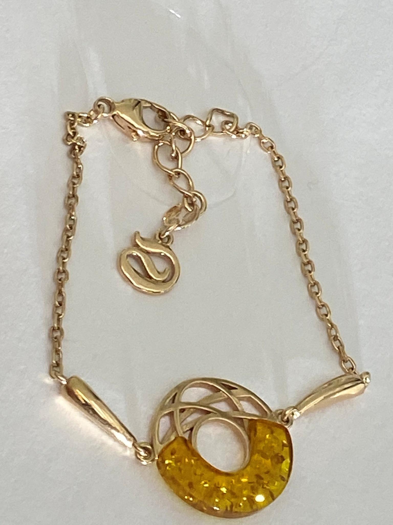 Янтарь 14812 (браслет из серебра)