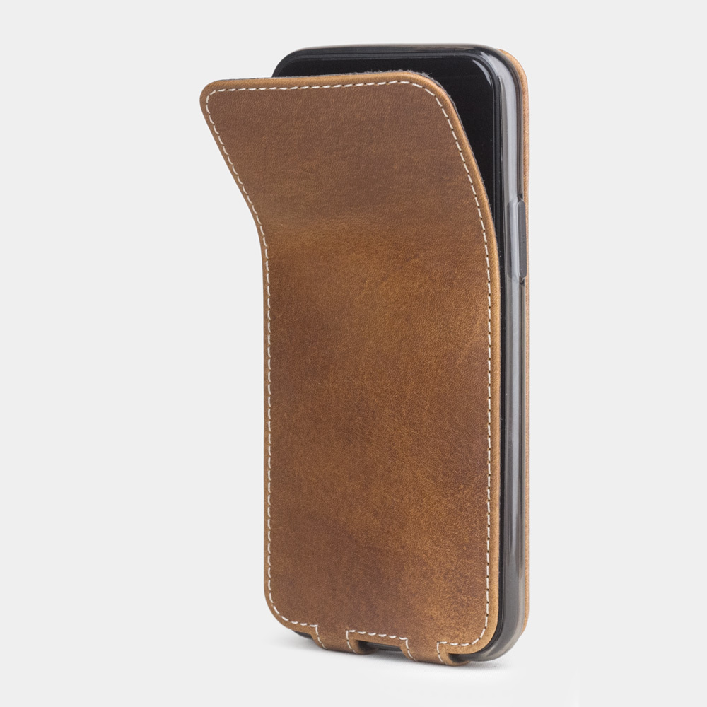 Чехол для iPhone 11 Pro из натуральной кожи теленка, цвета винтаж