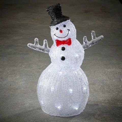 Снеговик в шляпе для наружного и внутреннего использования