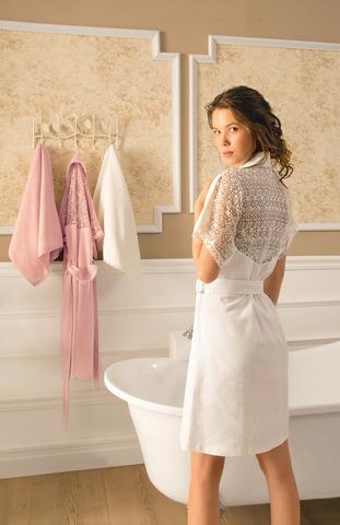 НАБОР 2 предмета LINDA ЛИНДА  махровый  женский халат S-M +полотенце 50х100 Tivolyo Home Турция