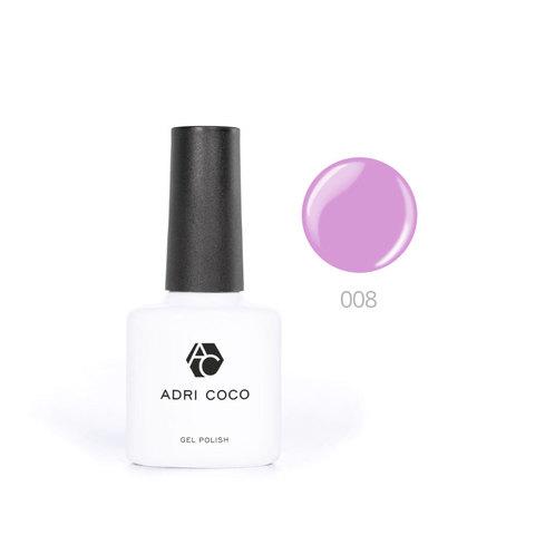Цветной гель-лак ADRICOCO №008 ярко-лиловый (8 мл.)
