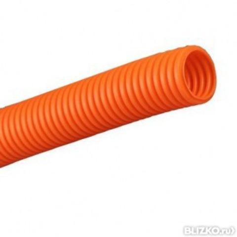 Труба гофр.ПНД d 40 с зондом (25 м) легкая оранжевая TDM