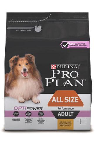 Сухой корм Purina Pro Plan для активных взрослых собак всех пород, курица
