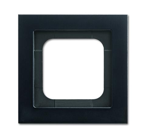 Рамка на 1 пост. Цвет Матовый чёрный. ABB(АББ). Axcent(Акcент). 2CKA001754A4708